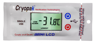 Single use USB Temperature data logger with LCD display